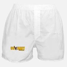 Navy Dad Boxer Shorts