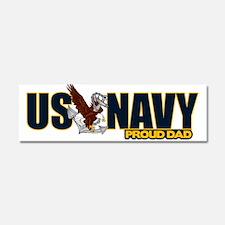 Navy Dad Car Magnet 10 x 3