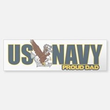 Navy Dad Bumper Bumper Sticker
