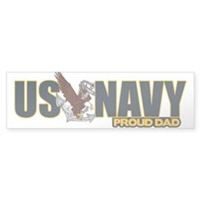Navy Dad Bumper Sticker