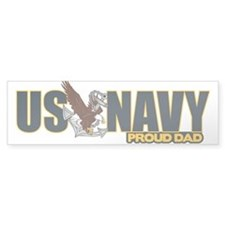 Navy Dad Car Sticker