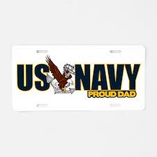 Navy Dad Aluminum License Plate