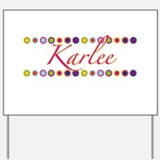 Karlee with Flowers Yard Sign