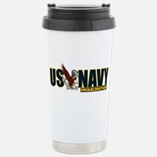 Navy Brother Travel Mug