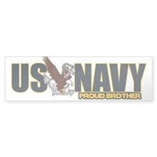 Navy Brother Bumper Sticker