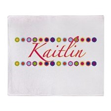 Kaitlin with Flowers Throw Blanket
