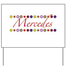Mercedes with Flowers Yard Sign
