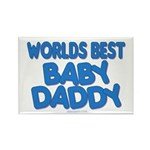 worlds best baby daddy Rectangle Magnet
