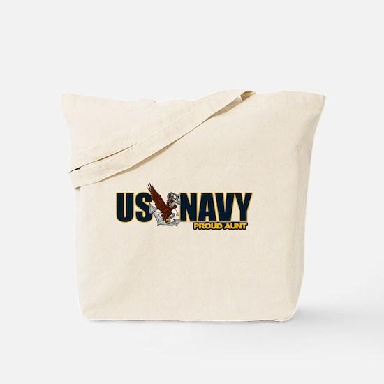 Navy Aunt Tote Bag