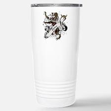 Flynn Tartan Lion Stainless Steel Travel Mug