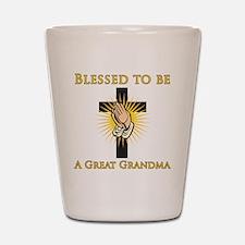 Blessed Great Grandma Shot Glass
