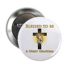 "Blessed Great Grandma 2.25"" Button"