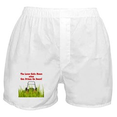 No Lawns for Oil! Boxer Shorts