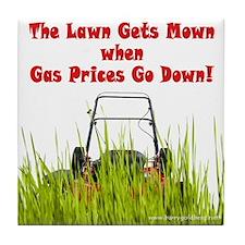 No Lawns for Oil! Tile Coaster