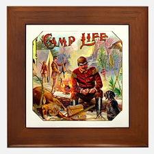 Camp Life Cigar Label Framed Tile
