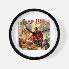 Camp Life Cigar Label Wall Clock