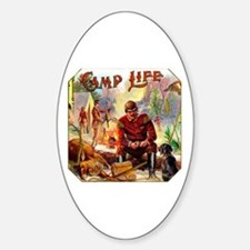 Camp Life Cigar Label Sticker (Oval)