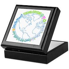 Think Green World Keepsake Box