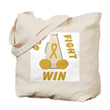 Gold WIN Ribbon Tote Bag
