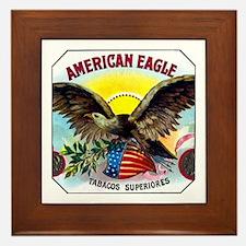 American Eagle Cigar Label Framed Tile