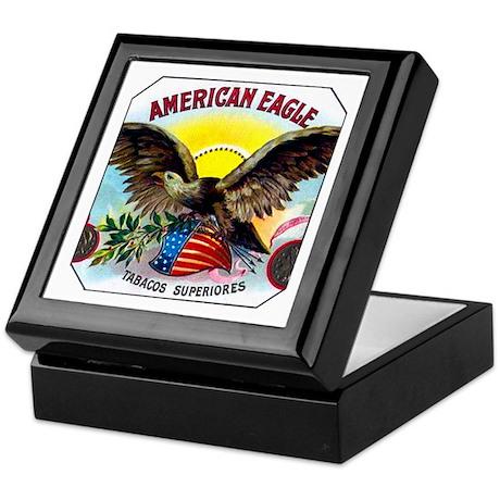 American Eagle Cigar Label Keepsake Box
