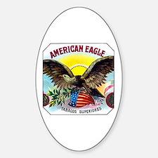 American Eagle Cigar Label Sticker (Oval)
