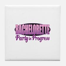 Bachelorette Party in Progress Tile Coaster