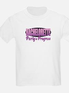 Bachelorette Party in Progress Kids T-Shirt