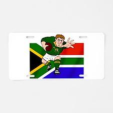 Springboks Rugby Forward Aluminum License Plate