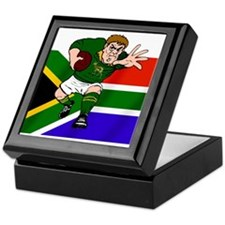 Springboks Rugby Forward Keepsake Box
