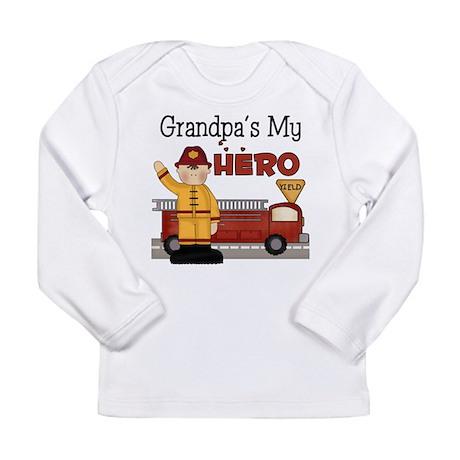 Grandpas My Hero Firefighter Long Sleeve Infant T-