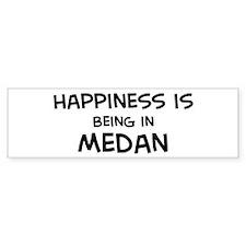 Happiness is Medan Bumper Bumper Sticker