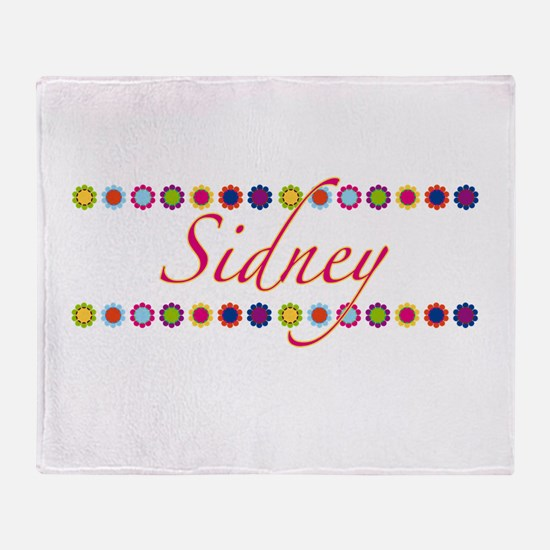 Sidney with Flowers Throw Blanket