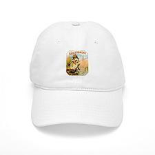 Greenbacks Fishing Frog Cigar Label Baseball Cap