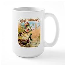 Greenbacks Fishing Frog Cigar Label Mug