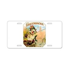 Greenbacks Fishing Frog Cigar Label Aluminum Licen