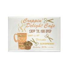 Croppin' Delight Cafe V.2 Distressed Rectangle Mag