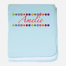 Amelie with Flowers baby blanket