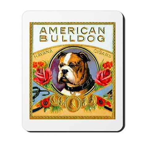 American Bulldog Cigar Label Mousepad