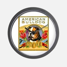 American Bulldog Cigar Label Wall Clock