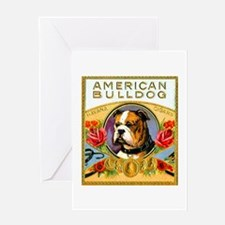American Bulldog Cigar Label Greeting Card