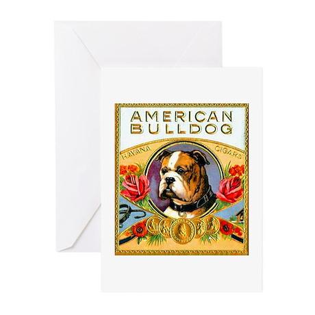 American Bulldog Cigar Label Greeting Cards (Pk of