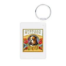 American Bulldog Cigar Label Keychains