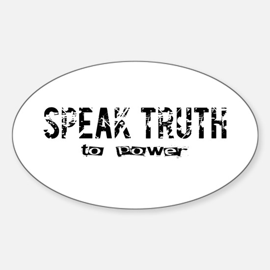 Speak Truth Oval Decal