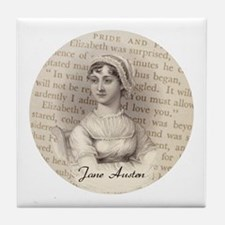 Jane Austen Gift Tile Coaster