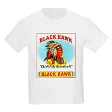 Black Hawk Chief Cigar Label T-Shirt