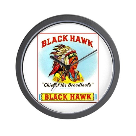 Black Hawk Chief Cigar Label Wall Clock