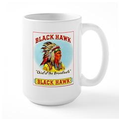 Black Hawk Chief Cigar Label Large Mug
