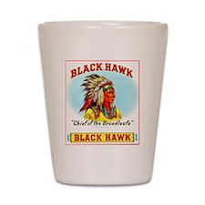 Black Hawk Chief Cigar Label Shot Glass