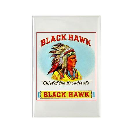 Black Hawk Chief Cigar Label Rectangle Magnet (100